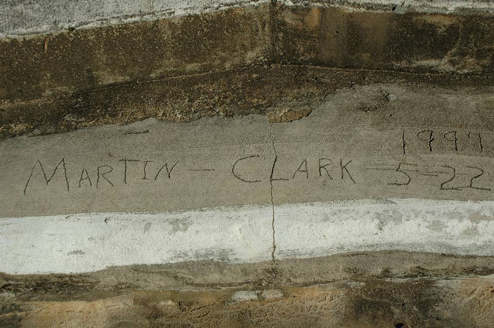 concrete step with names